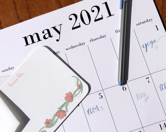 2021 - 2022 wall calendar 11x17 with option to add magnet