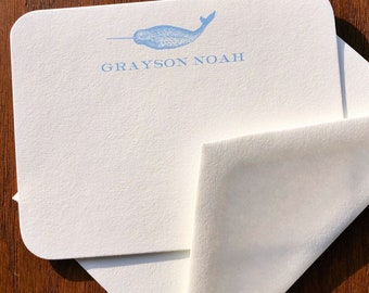 Narwhal Baby Thank You Cards