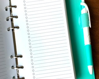 On Top of It checklist personal size printed planner inserts, to do list planner inserts, checklist planner insert