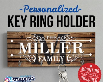 Personalized Key Holder, Wall Key Rack, Anniversary Gift,  Housewarming Gift, Wedding Gift, Key Holders, Personalized Gift, Realtor