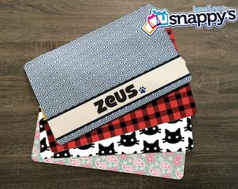Personalized Dog Placemat - Dog Mat - Pet Food Mat - Fabric Placemat - Rubber Placemat