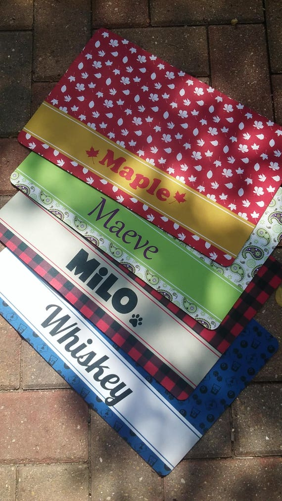 Personalized Dog Placemat Dog Mat Pet Food Mat Fabric Etsy