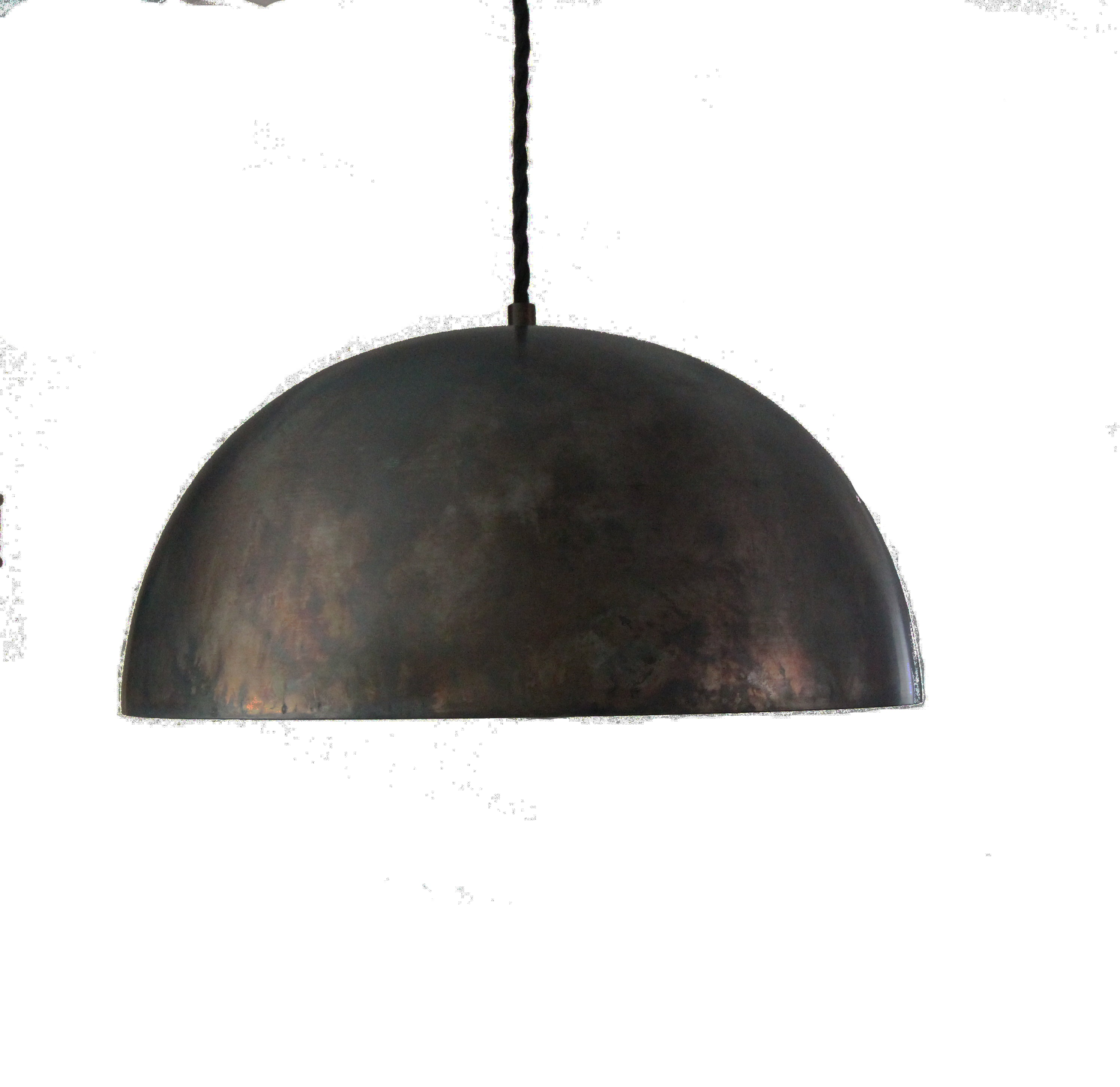 Large Black Steel 14 Dome Pendant Light Island Pendant