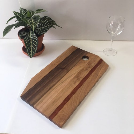 presentation board in maple, walnut and mahogany recycled.