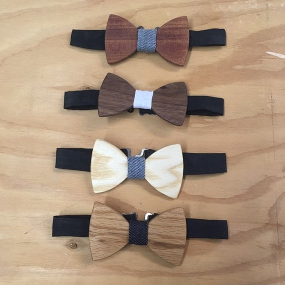Bow ties for kids made of recycled wood