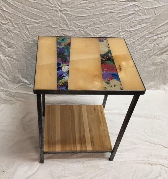 Design side table: Maple & acrylic