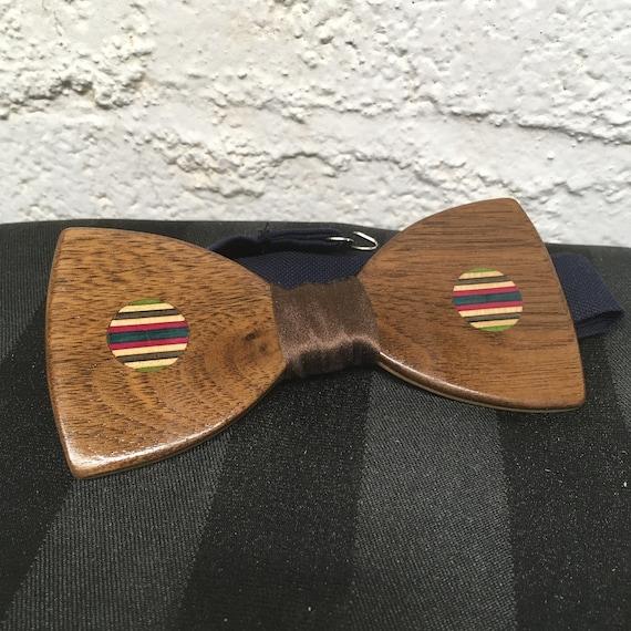 Recycled skateboard-walnut bow tie