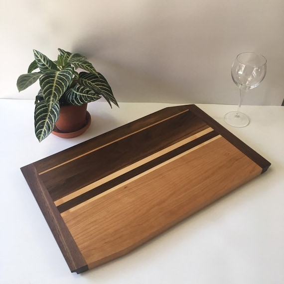 14x20 cutting board in cherry, maple and walnut.