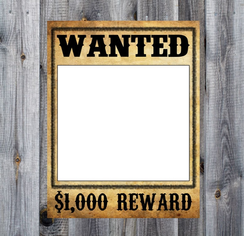Cowboy Downloadable Rodeo Birthday Party Theme Decoration Prop Wanted Poster 16x20 Western Printable Photo Booth