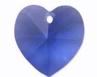 Swarovski Crystal 6202 14mm Crystal Heart Pendant x 2