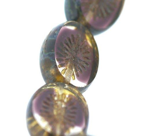Púrpura Oscuro Azul en forma de discos 6mm vendedor de Reino Unido Facetas granos de piedra natural X 100