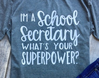 6417334c9 School Secretary Shirt, Gift for School Secretary, School Staff Tee, Shirts  for Secretaries, School Secretary, School Secretary Gifts