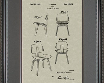 Modern Chair Patent Art Wall Hanging Gift E5272