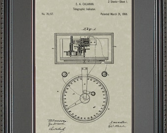 Stock Ticker Patent Art Wall Hanging  Broker Trader Gift C6157