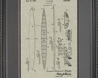 Surfboard Patent Artwork Surfer Shredding Waves Gift B2230