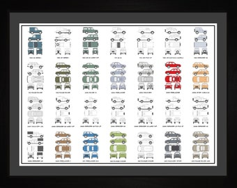 Land Rover Auto Collection Drawing Art Car Range Rover Discovery Freelander Evoque Defender Gift ALROV1824