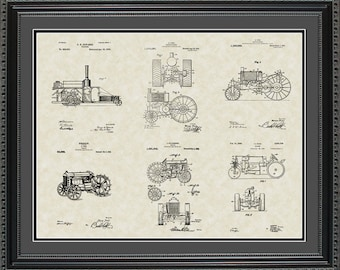 Tractors Patent Collection Farmer Rancher Gift PTRAC2024