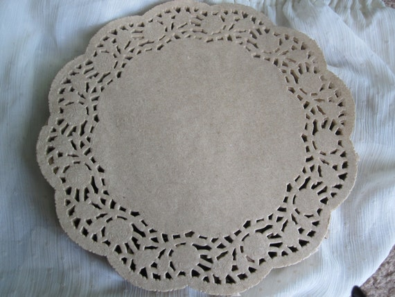 25 Pcs 8 Inch Round Brown Kraft Paper Lace Doilies Craft Etsy