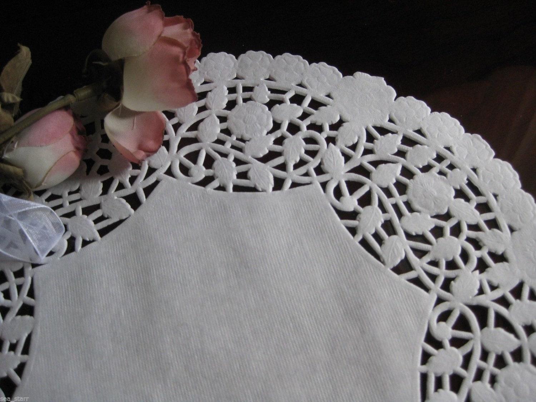 10 Inch White Lancaster Lace Paper Doily 25 Pcs Round Etsy