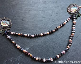 Pearl Hair Chain, Bridal Hair Clip, Mermaid Headpiece, Mermaid Hair Drape, Beach Headpiece, Beach Jewelry, Mermaid Jewelry, Boho Wedding