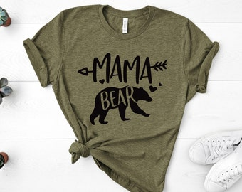 Mama Bear Infan Short Sleeve Tee Girl Birthday Gift