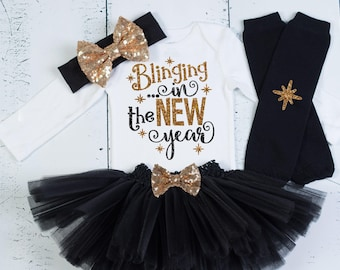 New Years Outfit Baby Girl 1st New Years Outfit New Years Tutu 1st