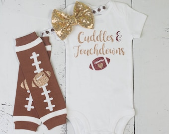 265c42614 Baby Girl Football Outfit