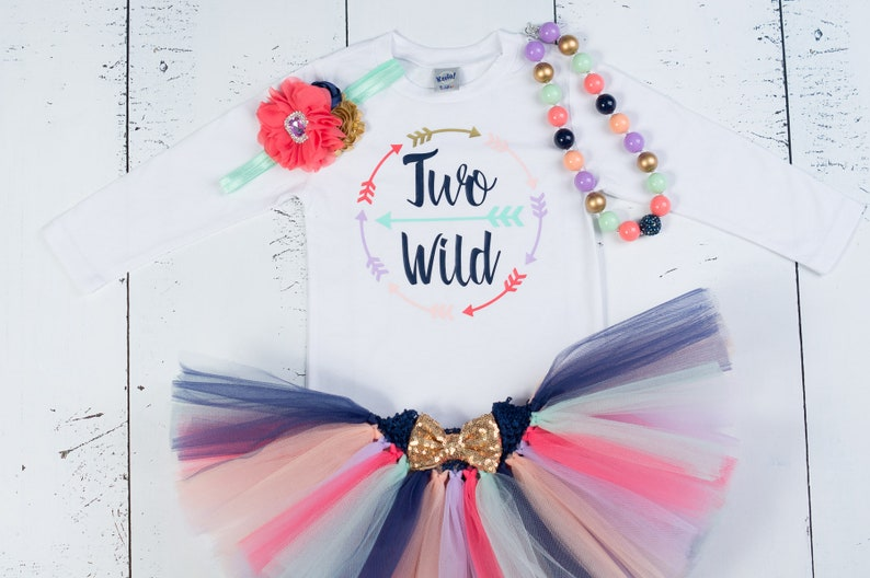 b38f9890f Girls 2nd Birthday OutfitTwo WildSecond Birthday Outfit2nd   Etsy