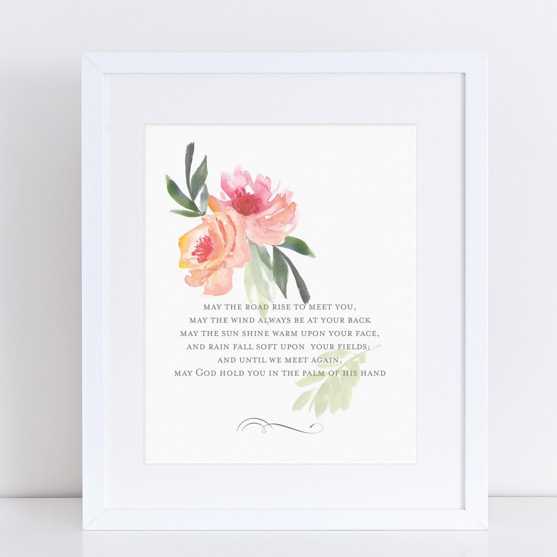 Irish Blessing Word Art Prints Irish Wedding Blessing Irish | Etsy