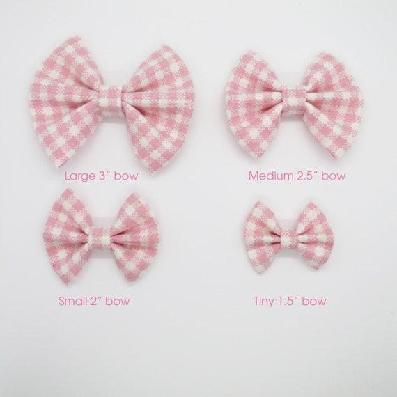 Pink Polka Dot Bow  Fabric Bow  Baby Girl Bow