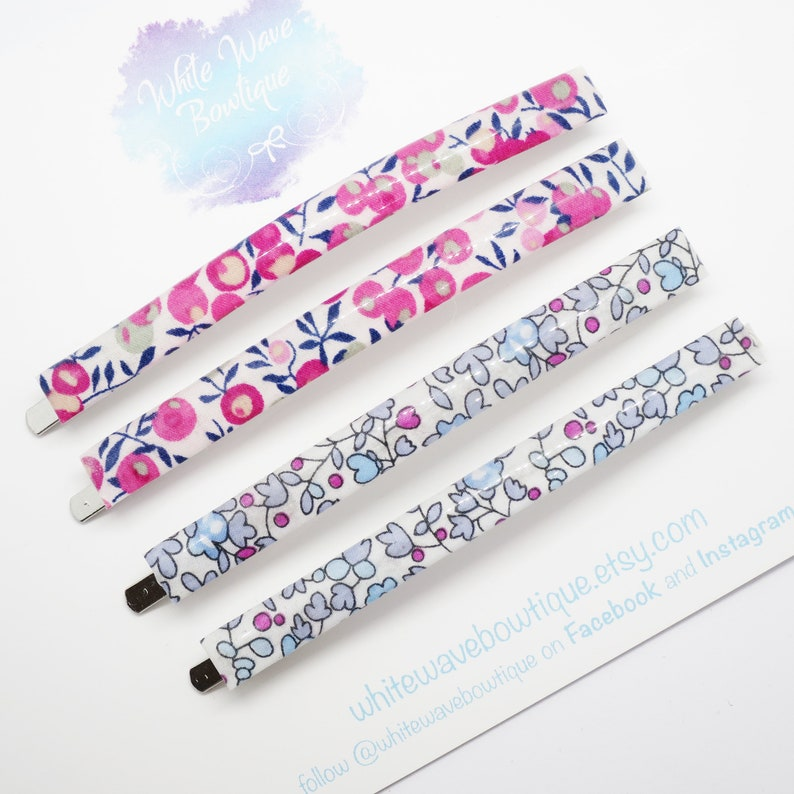 Thick hair bobby pin Liberty Hair clips fabric hair slide clips for adults Large hair grip resin hair clip Flower clip floral clips