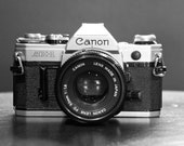 8x12 Vintage Camera Print - Canon AE-1 - PRINT ONLY - Black & White