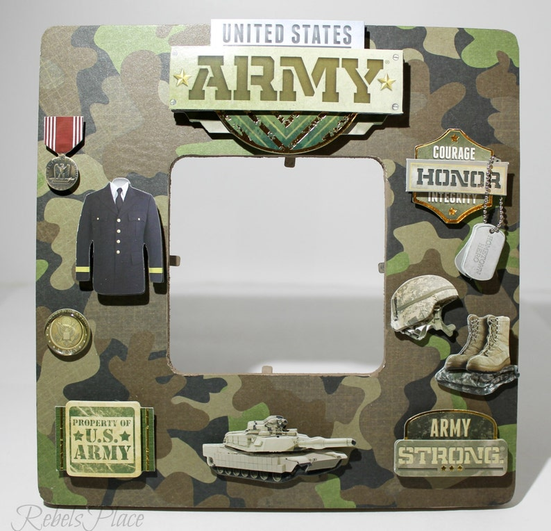 ArmyUnited States Military ArmedForces Army Memorial Picture Frame