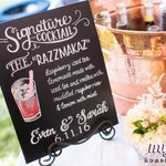 NEW Sizes Available! Personalized Hand Painted Signature Drink Sign - NOT A PRINT - Personalized, Ceremony, Art