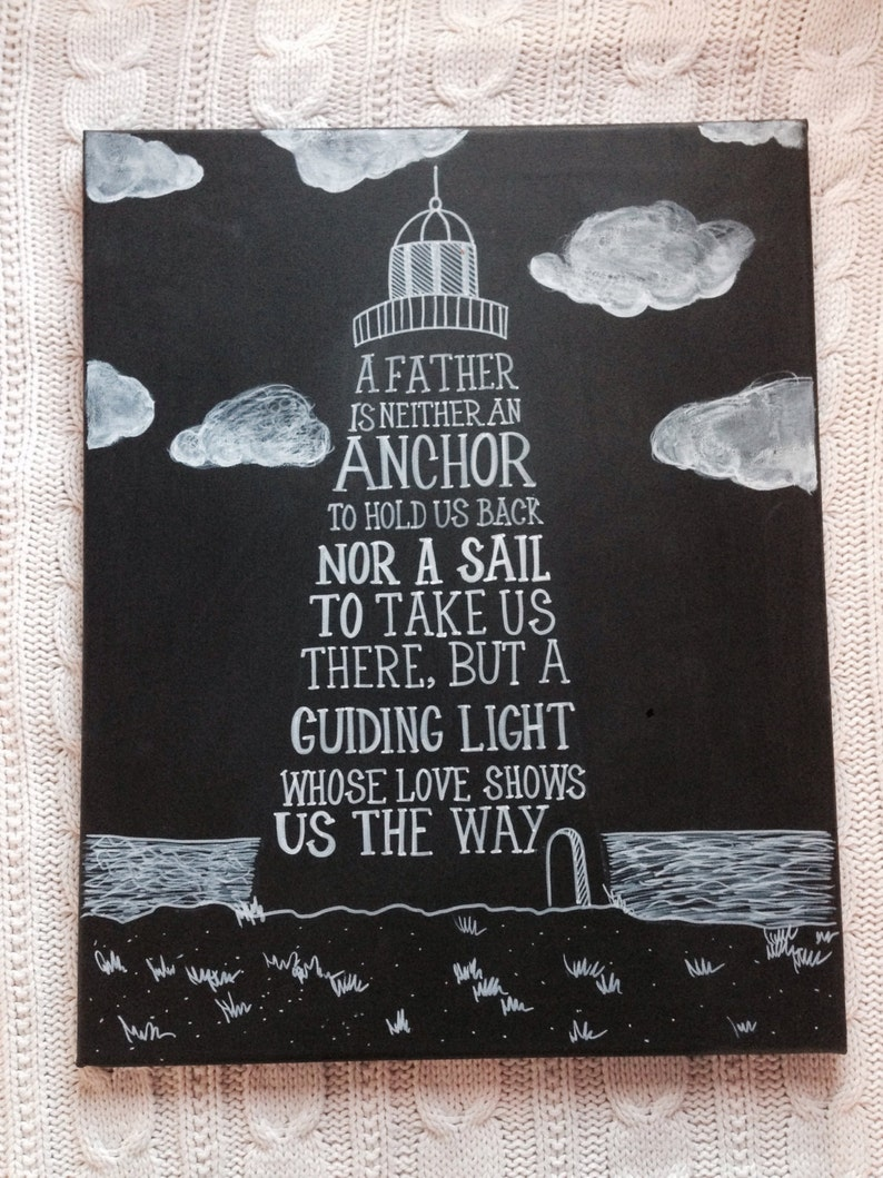 A Father is Neither an Anchor Chalkboard Art Sign  image 0