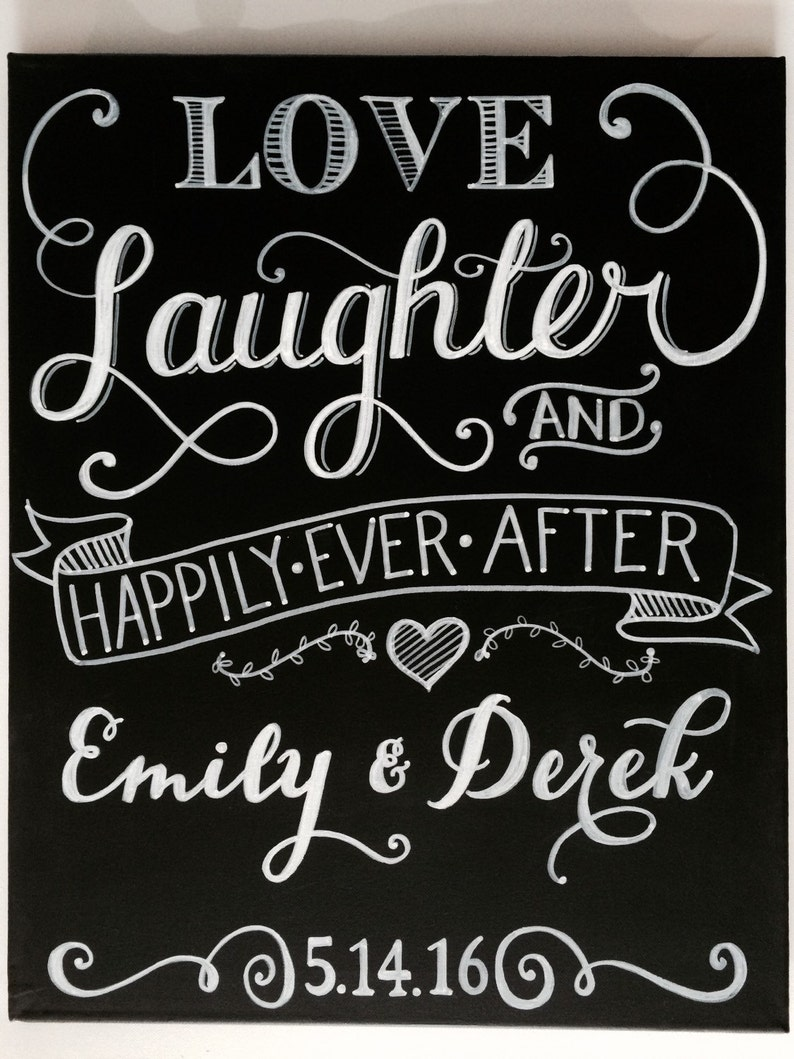 Personalized Love Laughter & Happily Ever After Wedding image 0