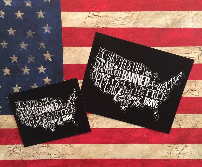 Star Spangled Banner ORIGINAL Artwork Print Available in 2 image 0