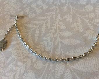 Watch Chain & Fob Sterling Silver Original  Victorian Single Albert   (104631E)
