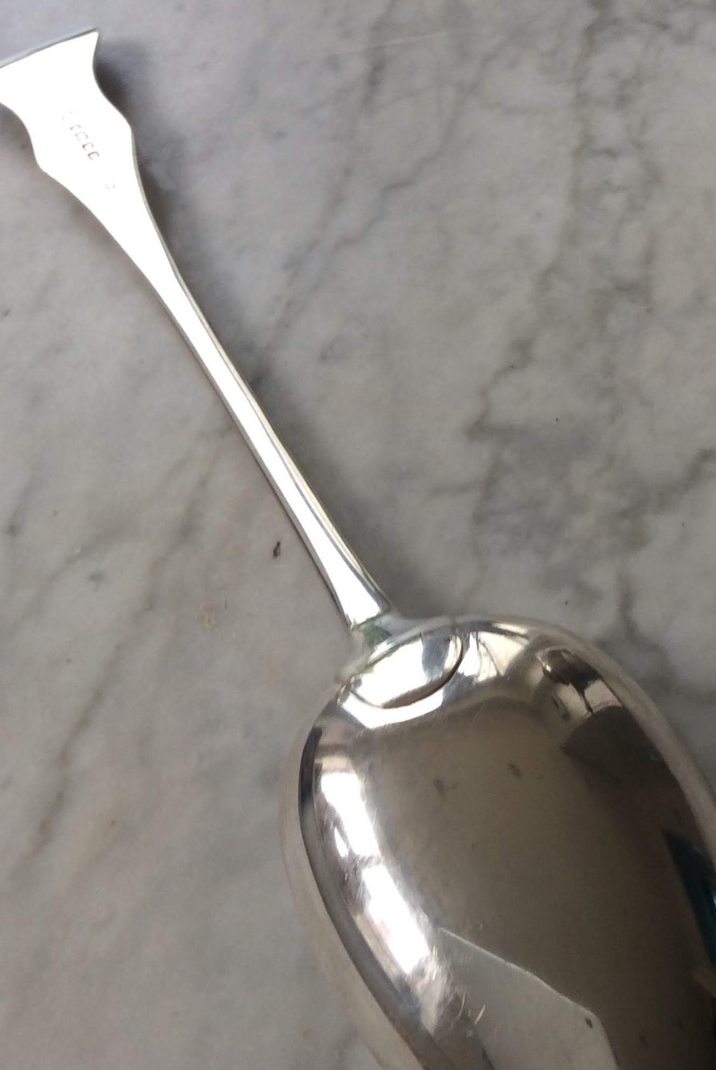 Large Serving Spoon Queens  Pattern Victorian 103403E
