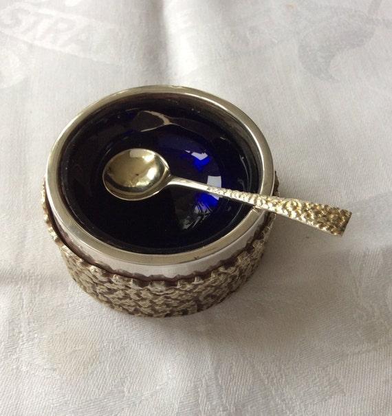 103227E Salt Spoon Sterling English Silver 1926