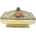 Vintage 1950s Tin Floral, Container Storage, Tea Tin, Biscuit Tin, Metal Jar