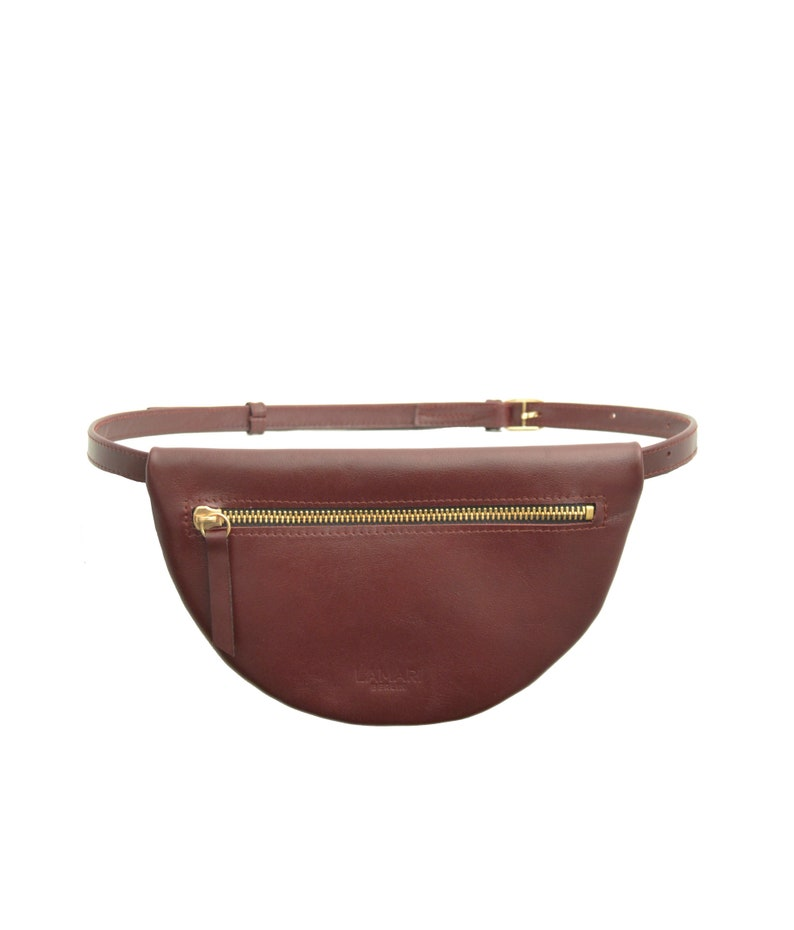 burgundy fanny pack MOON BAG Burgundy hip bag Hip Bag Leather waist bag,hip belt Bum Bag burgundy Waist bag burgundy utility belt