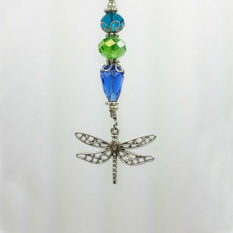 Car Accessory Dragonfly.  Rear View Mirror Car Ornament with image 0