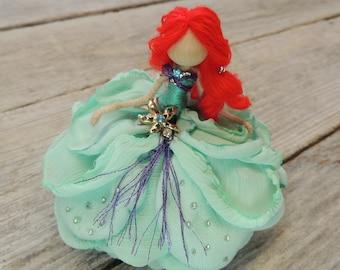 Ariel Bendy Doll ~  Mermaid Starfish Fairy ~  Rose Princess ~ Waldorf Flower Doll Sea Enchanted ~ Special Edition Mermaid Doll