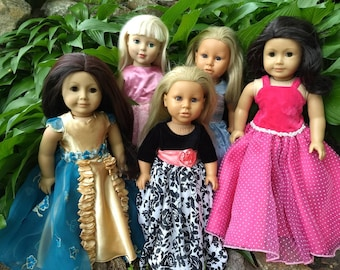 Custom Doll Dress~ Custom Doll Gown Fits American Girl ~ Party Dress ~ Made to Order ~ Custom Doll Clothes ~ AG Prom Quinceanera