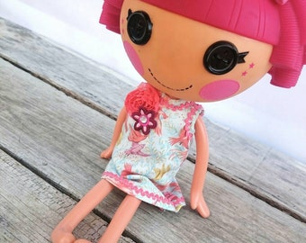 Handmade Party Dress for LalaLoopsy ~ Fits Large LalaLoopsy Dolls~ Pretty Dress~Jewel