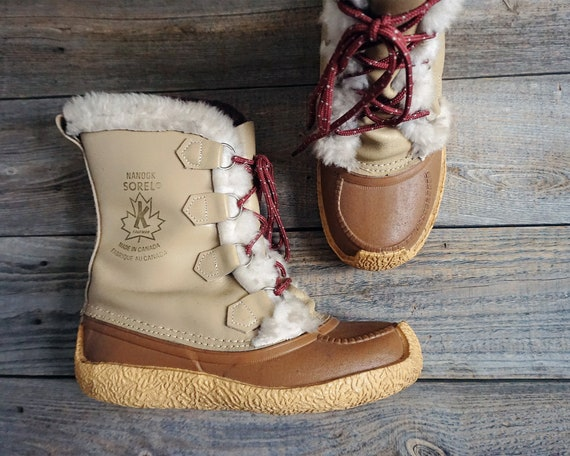 Vintage Nanook Sorel Boots - Kaufman Made in Canad