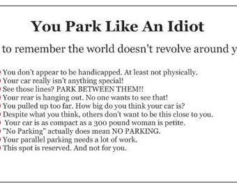 Bad parking cards etsy business cards for people who suck at parking the choice is yours package of 10 windshield slappers colourmoves