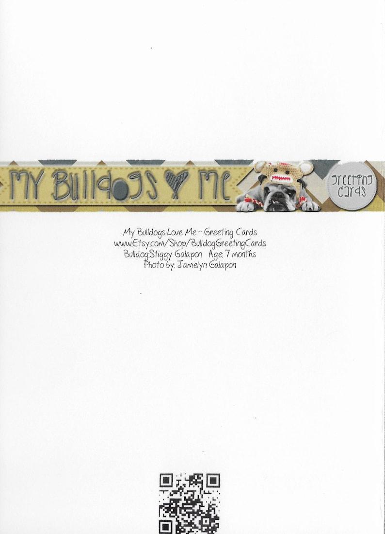 card 20  drool english bulldog anniversary greeting card