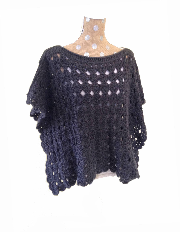 Crochet Poncho Pattern Pollyanna Poncho Crochet Pattern Crochet Shawl Pattern Womens Boho Poncho Crochet Pdf File